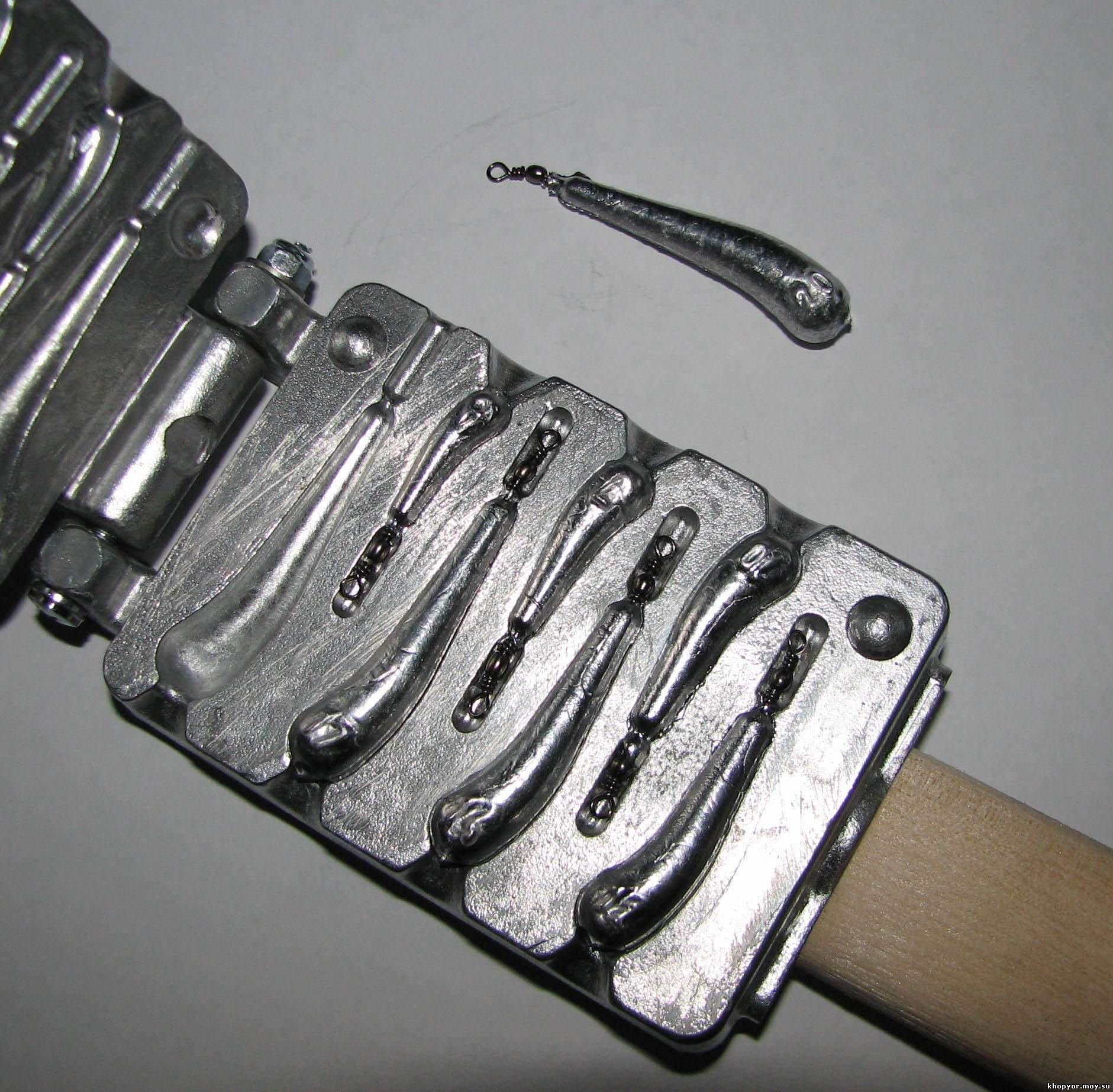 Как сделать форму для грузил из свинца фото 148